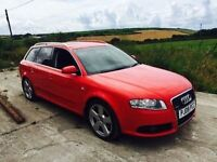 AUDI A4 S LINE QUATTRO 3.0 TDI ESTATE RED 2008