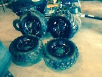 For sale 4 tires and rims off Polaris 570