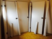 3 doors with two frames