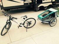 Bike and kid puller