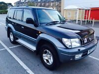 Toyota Land Cruiser Colorado 3.0 D4-D VX 8 Seater 12 Months MOT. Clean Example Swap P.x Welcome