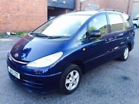 TOYOTA PREVIA 7 SEATER 2003 AUTOMATIC+LPG GAS £1399