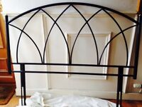 Steel gothic arched double bed headboard