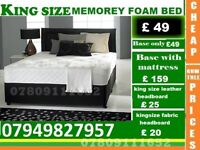 Double KingSize Memory Foam Frame available , Bedding