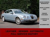 2004 Jaguar S-Type 2.5 V6 SE, PETROL, AUTOMATIC, HEATED LEATHER, BLUE, XENONS