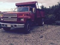 1986 Ford single axle dump