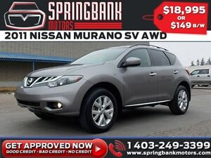 2011 Nissan Murano SV AWD w/Sunroof $129B/W INSTANT APPROVAL, DR