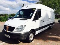 Mercedes Sprinter 2008 diesel van , white 133k excellent drive , cheap NO VAT TO PAY!