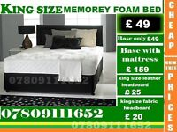 A New King Sizes Bed base / double / single base with Mattress also available