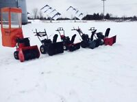 Snowblowers , all serviced and ready to take on snow!