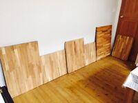 Solid Oak Worktop Sections