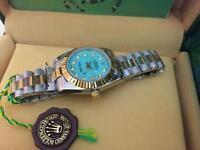 LADIES ROLEX OYSTER DATEJUST PERPETUAL Automatic Watch, blue dial