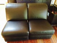 Ikea leather sectional pieces - Collingwood
