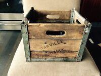 Antique milk crate $60 obo