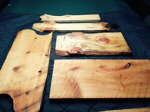 Hand made wood serving boards.