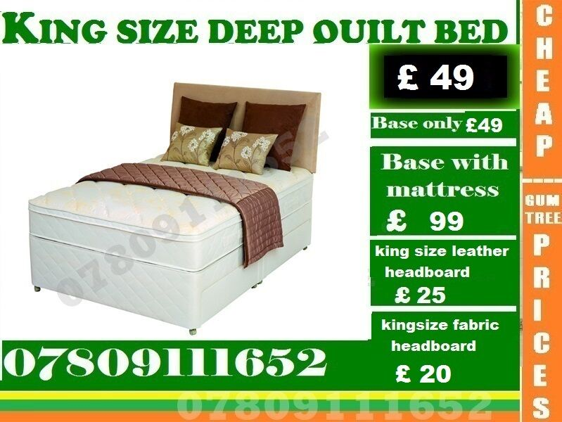 Amazing Offer King Size Base Double single also availableBeddingin Bromley, LondonGumtree - Amazing Quality of Furniture available at lowest cost possible....We Deal in Divan and Leather Beds We Have Single, Double, Small Double sizes available in Beds and other variety you wouldnt get that from anywhere else You can contact Us any time On...