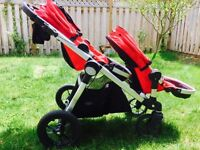 Baby Jogger City Select Stroller plus Second Seat Kit - Ruby