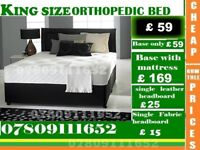 Brand New Double Single King Size Small Double Base FRAME Bedding