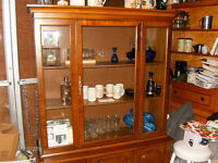 Extremely rare Paine Antique Mahogany China Display Cabinet
