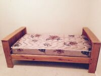 Knotty Pine Bookcase single bed or Bunkbed