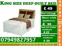 King Size Frame Double and single available alsoBedding