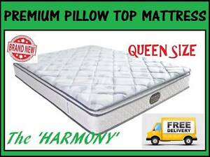 NEW Queen Size Bed Ensemble PREMIUM Pillow Top Mattress + Base