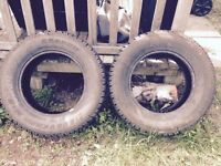 245/70R17 mud and snow tires (2)