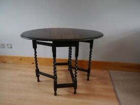 Antique Oval Gate-leg Folding Table