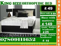 SINGLE DOUBLE AND KING SIZE DOUBLE Bed Super Orthopedic Bed Frame And Mattresses