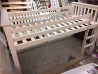 NOW SOLD - MORE COMING SOON - Brand new, slight second, high sleeper bunk in soft cream.