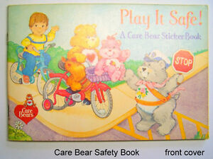 Vintage Care Bears Pizza Hut colour/sticker book Play It Safe