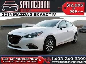 2014 Mazda Mazda3 GS-SKY $89B/W INSTANT APPROVAL, DRIVE HOME TOD