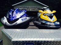 Duo motomarine Honda aquatrax 2008 et See Doo RXT 2007
