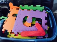 Alphabet and numbers foam mats $5