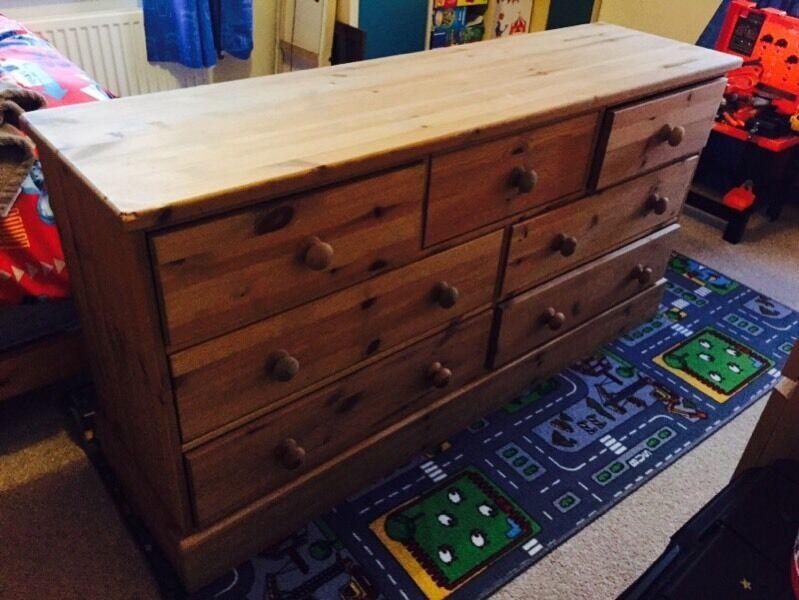 Pine 7 Draw Bedroom Unit In Sinfin Derbyshire Gumtree