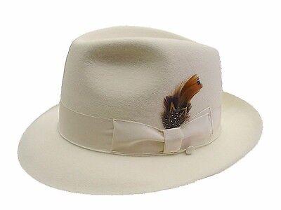 New Fur Felt - SELENTINO STERLING 100% FUR FELT MEN'S FEDORA HAT, new
