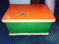 Wood Storage Chest/Trunk with Wheels!