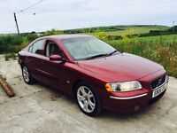 VOLVO S60 SE 2.4 D5 AUTO RED 2006 FSH LEATHER DIESEL