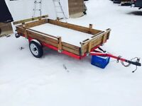 4x8 Utility Trailer has Dump feature