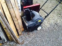 Used 2 stroke snowblower and generator