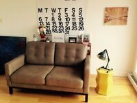 Sofa loveseat 2 places en cuir