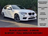 2011 BMW X1 XDrive18d M Sport, WHITE, MANUAL, DIESEL, 18 ALLOY WHEELS, LEATHER