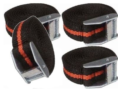 4 CAM BUCKLE TIE DOWN LASHING STRAPS ROOF RACK TRAILERS CARGO 25MM X 2.5M LONG