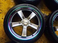 "17"" DOTZ RACING ALLOY WHEELS TYPE R CIVIC ACCORD TOYOTA SET OF 4"