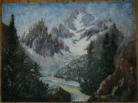 Rocky Mountains Oil on Board