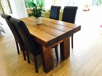 Wooden train sleeper table and chairs