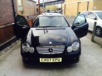 ***MERCEDES C180 K SE COUPE BLACK AUTOMATIC***