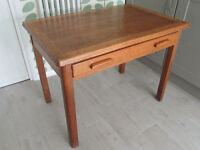 Old wooden school table with drawer
