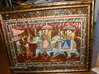 cloth east Indian art with rhinestones