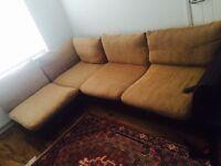 Large corner sofa plus foot stool